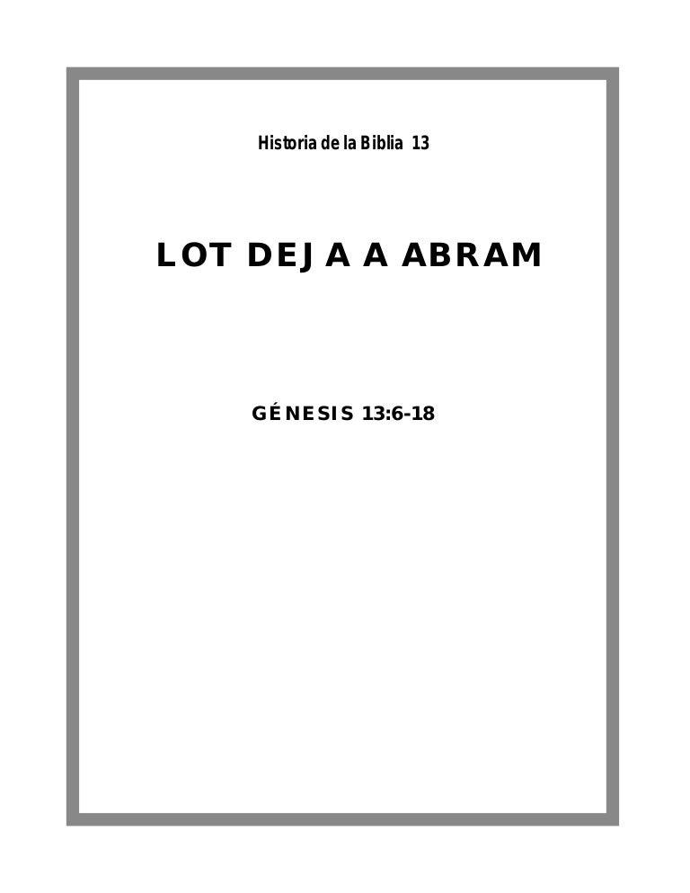 Historia De La Biblia 13 Lot Deja A Abram