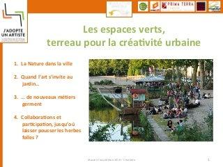 FOCUS Espaces Verts et Environnement - Ville de Nantes