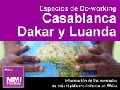 Espacios de Co-working en Casablanca, Dakar, Luanda