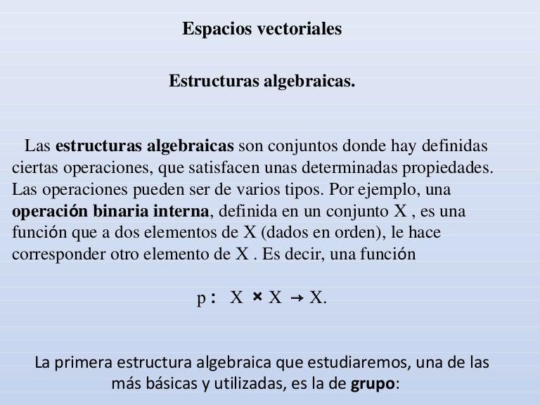 Espacio Vectorial Y Combinacion Lineal