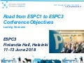 ESPC3 - Ludwig Hermann - ESPP - Road from ESPC1 to ESPC3 and conference objectives