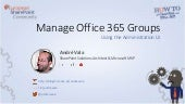 How to video - Managing Office 365 Groups