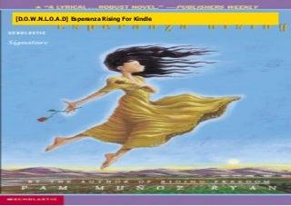 [D.O.W.N.L.O.A.D] Esperanza Rising For Kindle