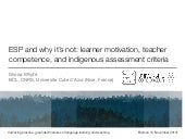ESP and why it's not: learner motivation, teacher competence, and indigenous assessment criteria