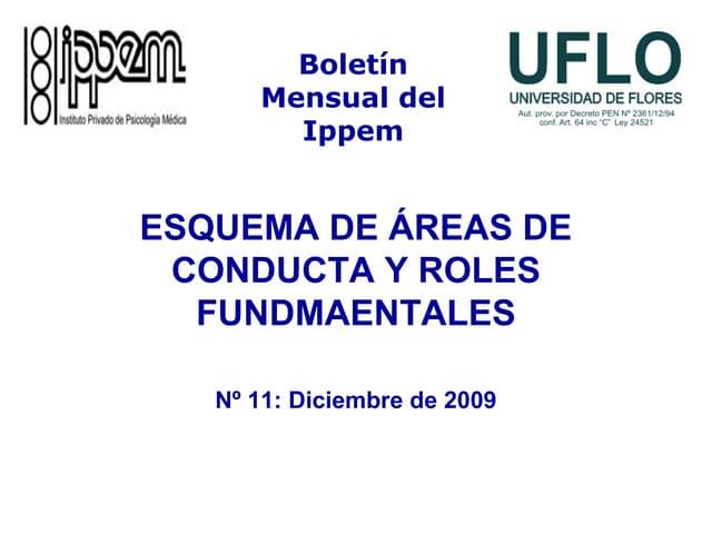 Esquema de Áreas de Conducta y Roles Fundamentales