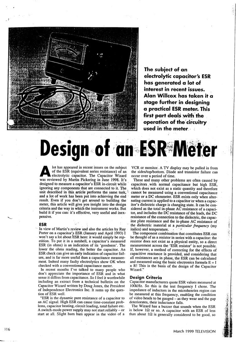 Esr capacitor-meter-project