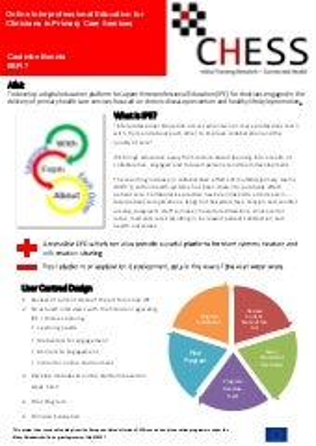 ESR 7 Caoimhe Bennis CHESS orientation conference poster
