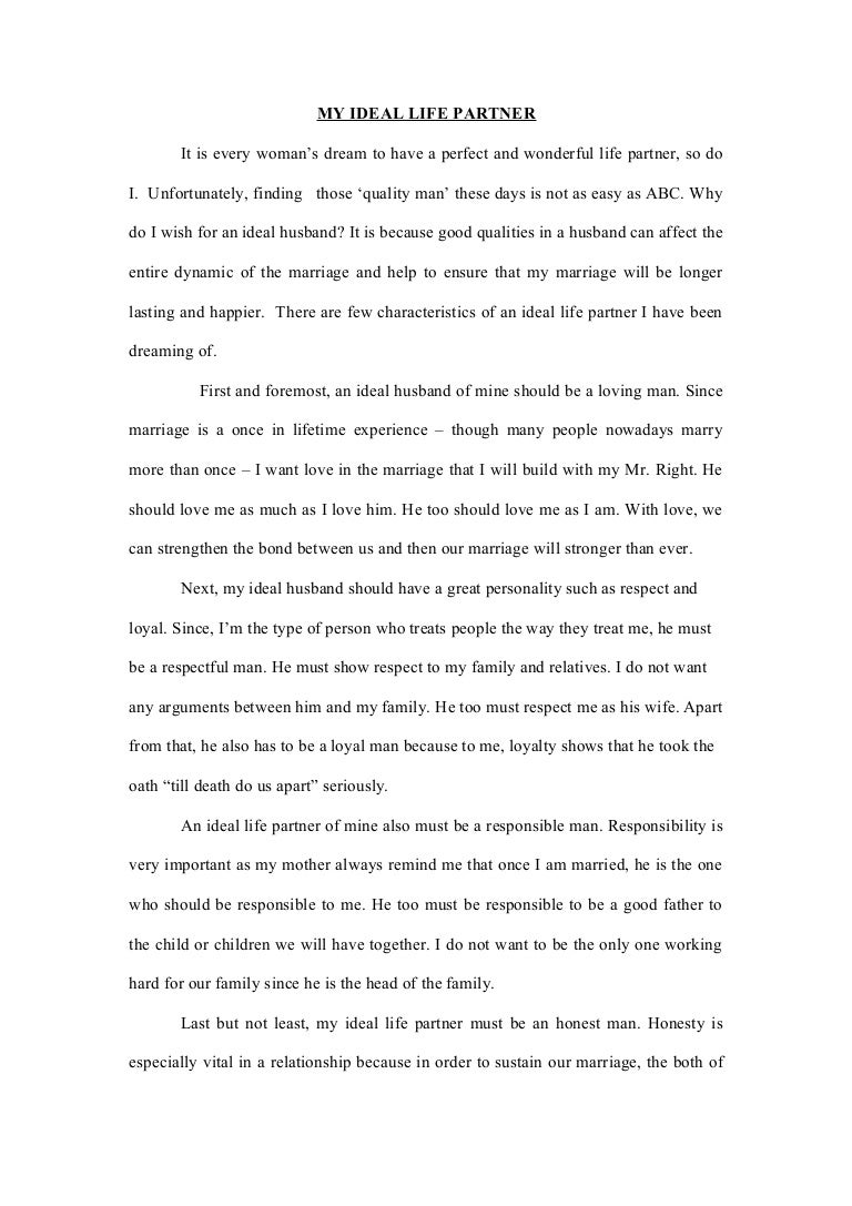 good husband essay