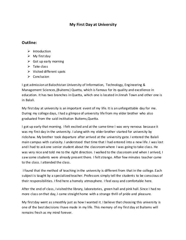 my university essay
