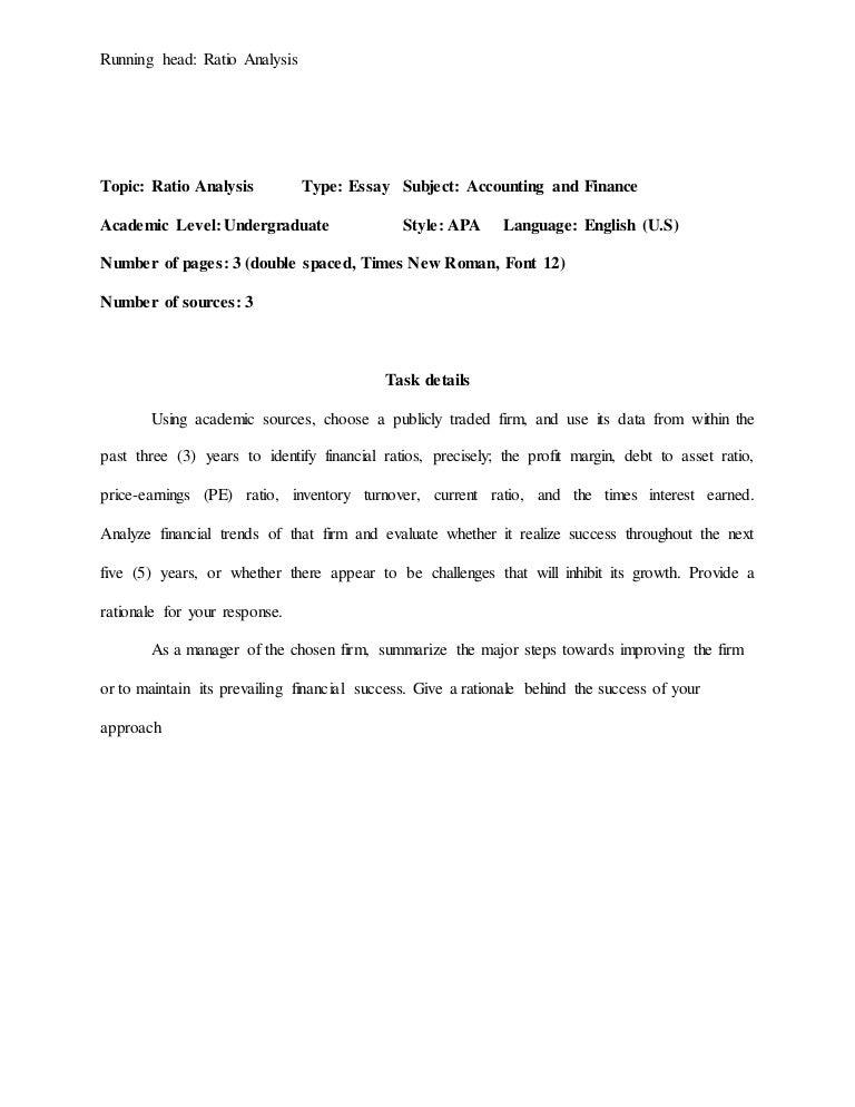 essay apa sample