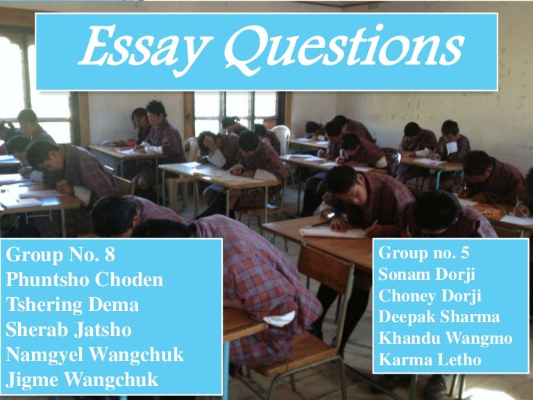 essay question assessment Usually they include a one-part question, and students respond by writing a paragraph or short essay, or building and solving an equation extended constructed response: these questions, like the constructed response, require a written answer.