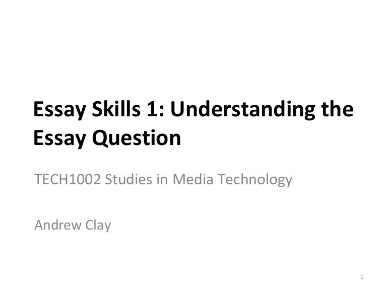 essay skills understanding the essay question