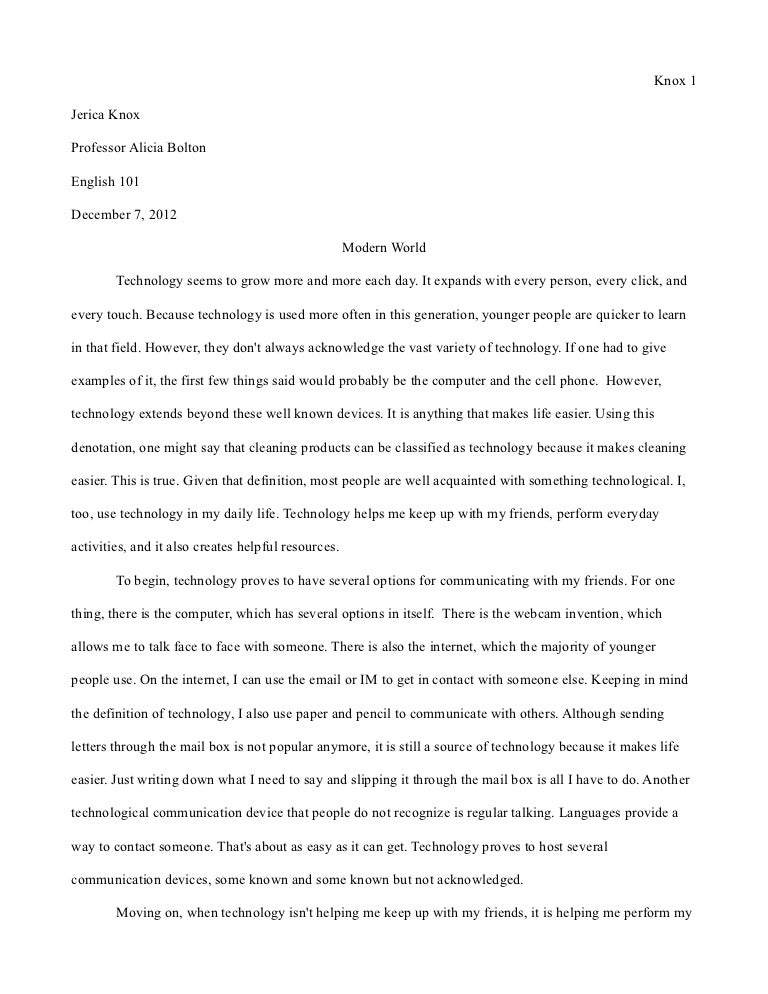 What Is A Thesis In An Essay Essay  Modern World Final  Spm English Essay also Science Essay Topics Essay About The World  Underfontanacountryinncom Sample Essays For High School Students