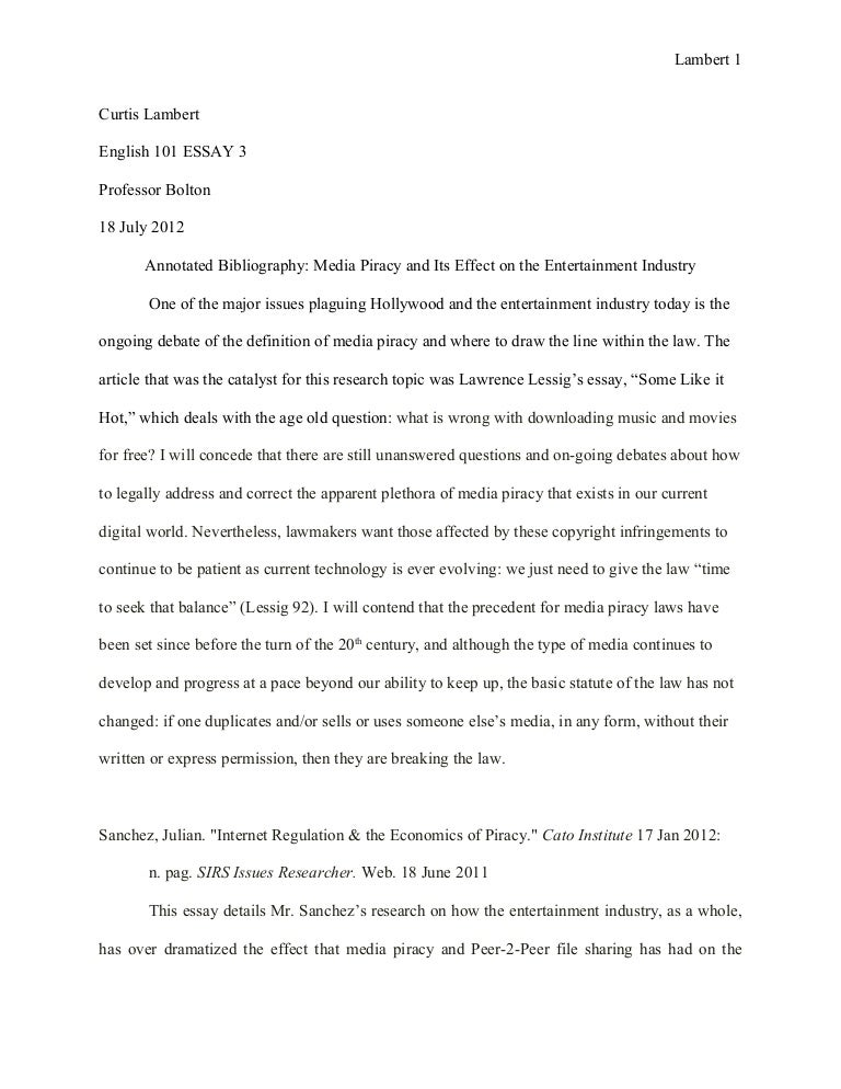 essay annotated bibliography rough draft