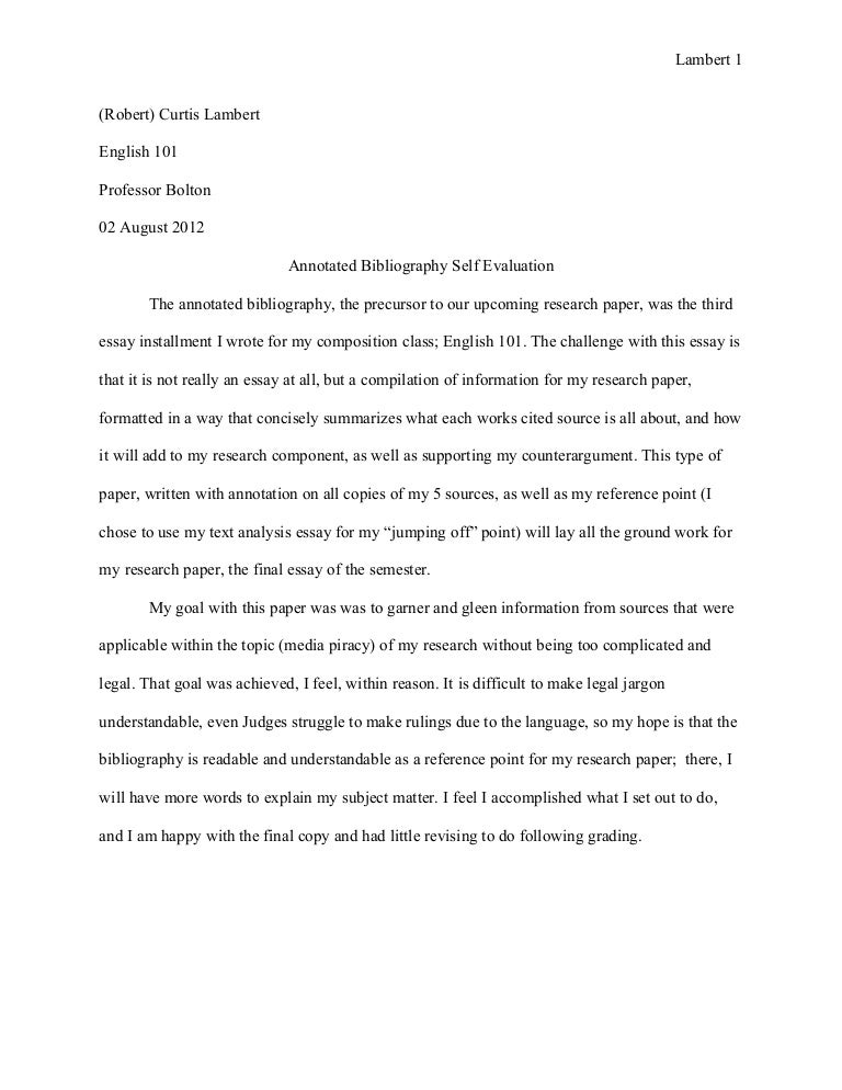 annotated essay