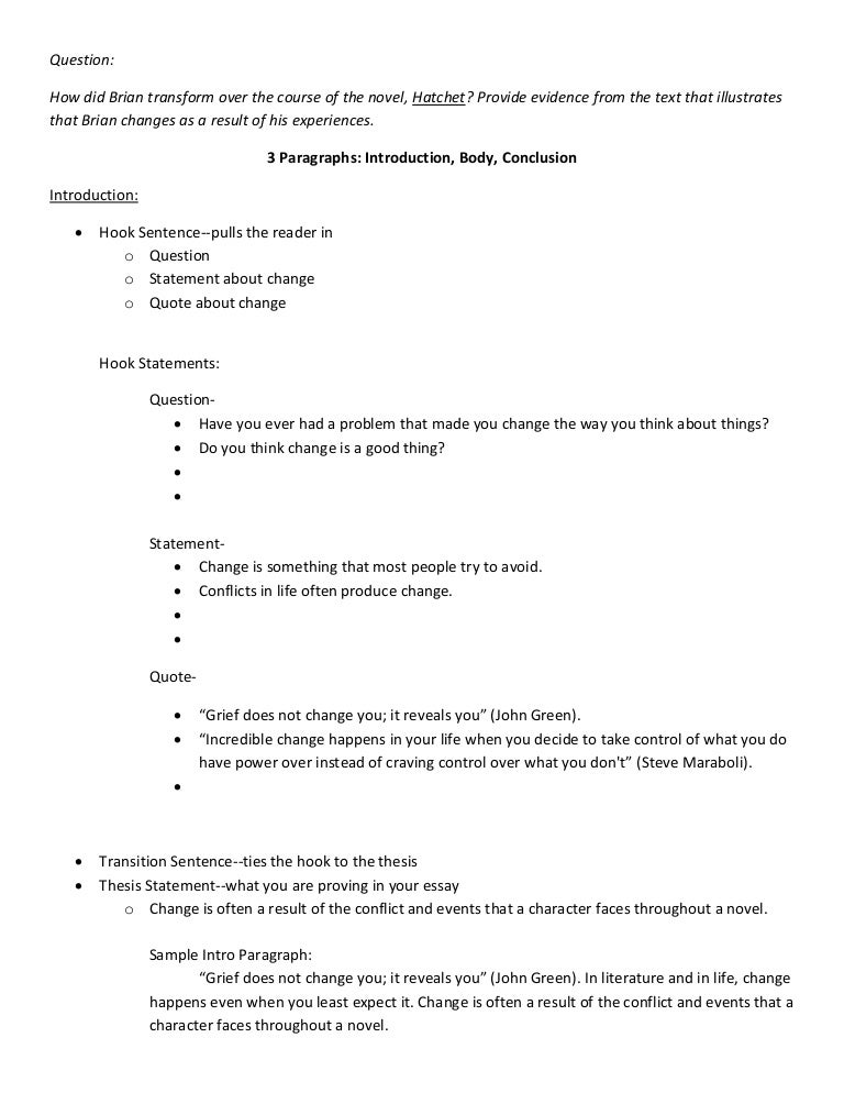 essay brian s change planning page notes