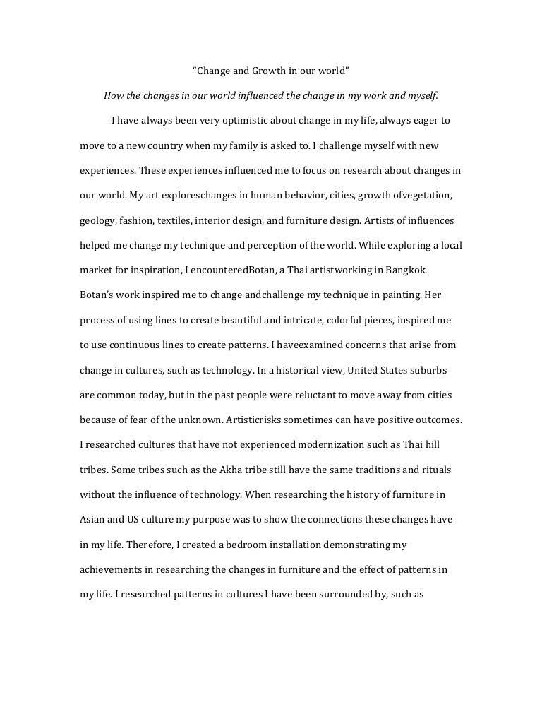 ib art essay