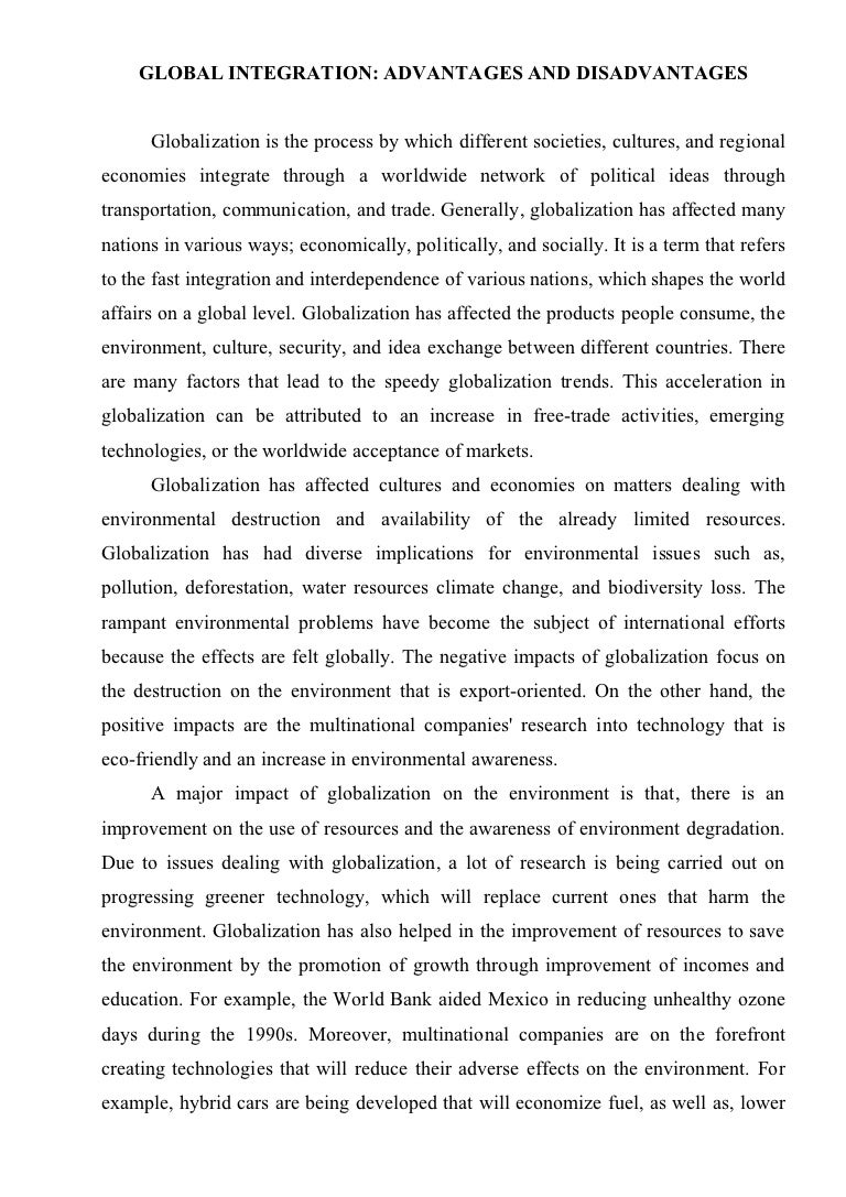 essay on globalization and culture
