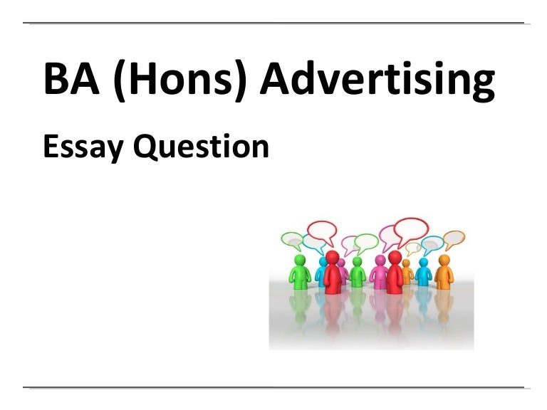 ucf advertising essay question and hand in
