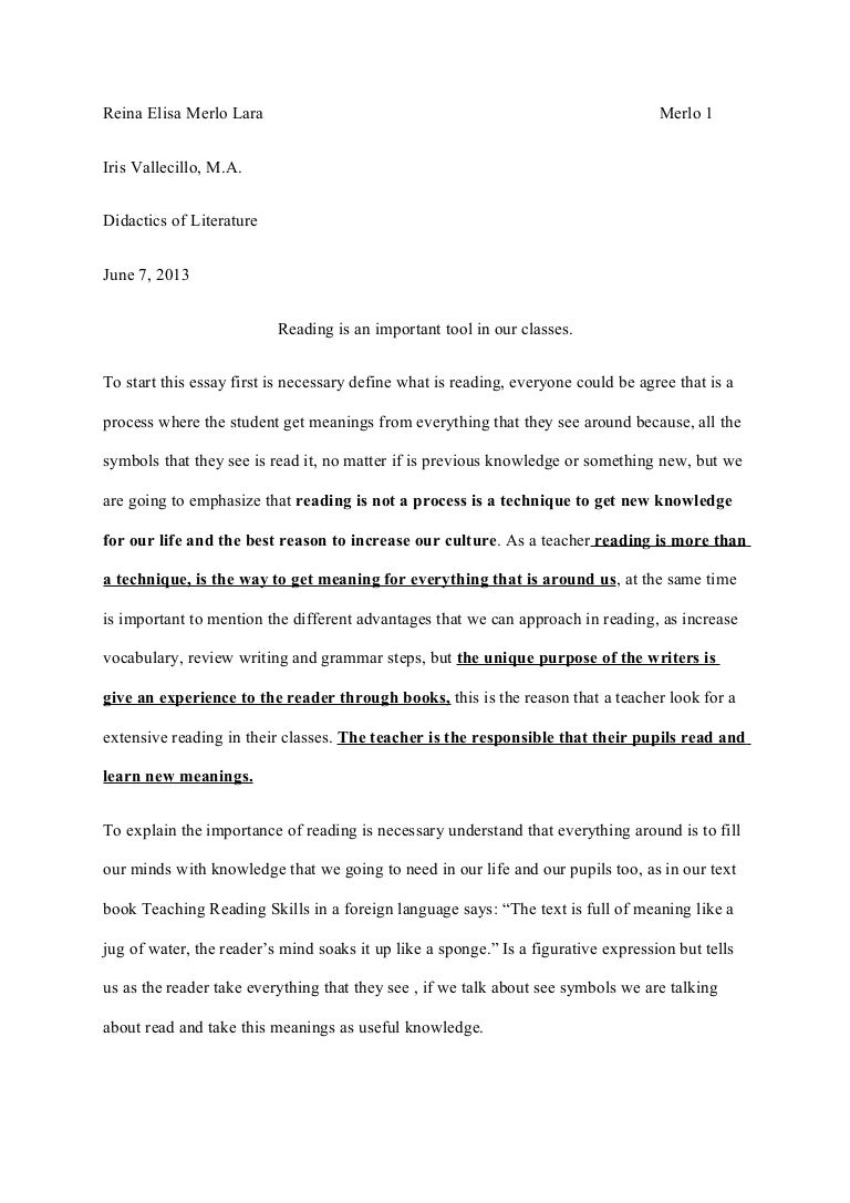 essay how important is reading for our students