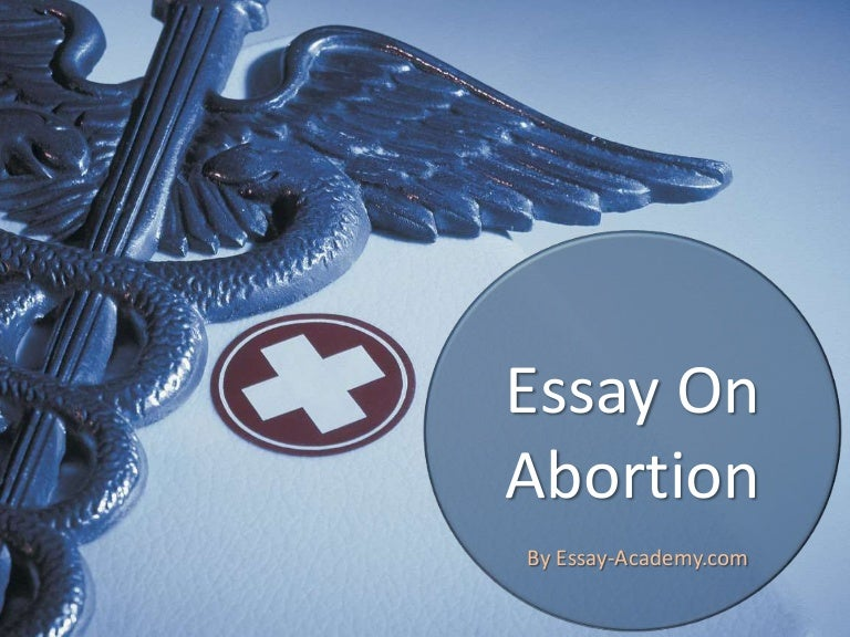 Essay abortion