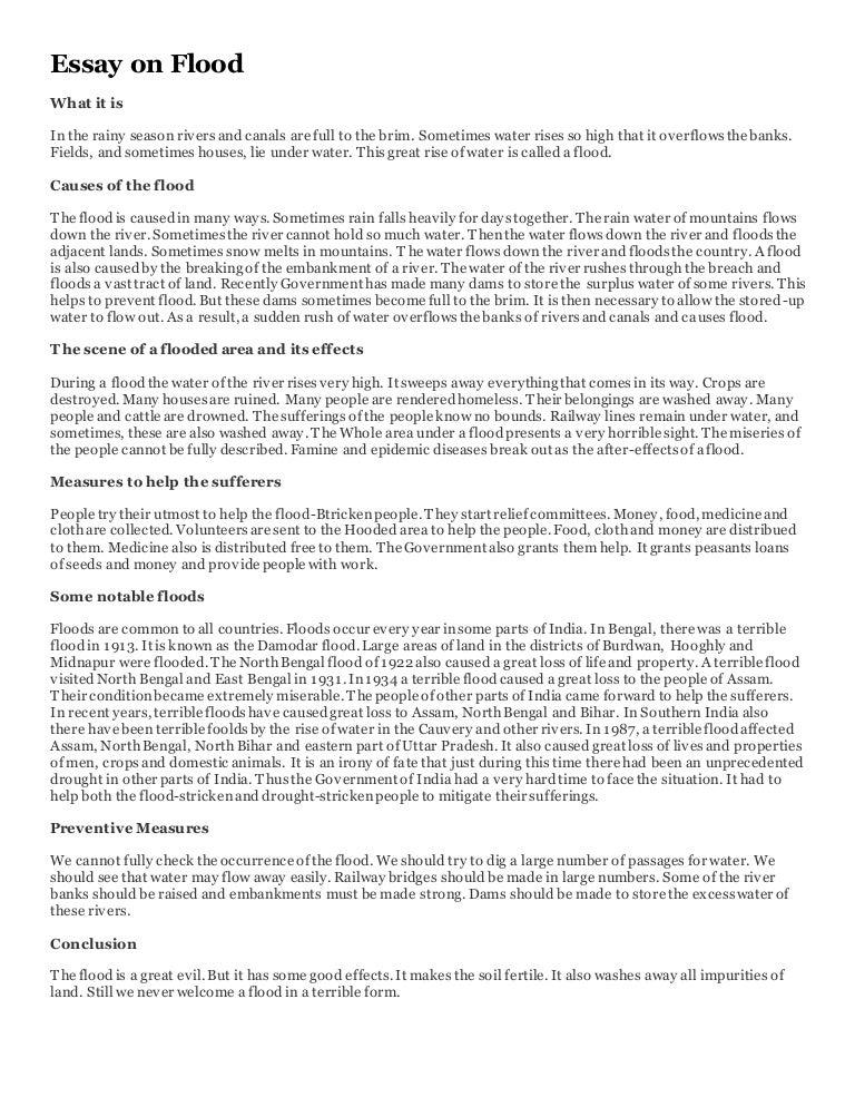 the flood essay
