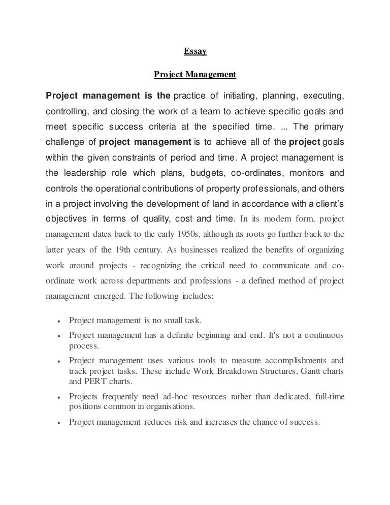Paper on management