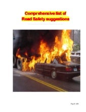 Essays on road safety