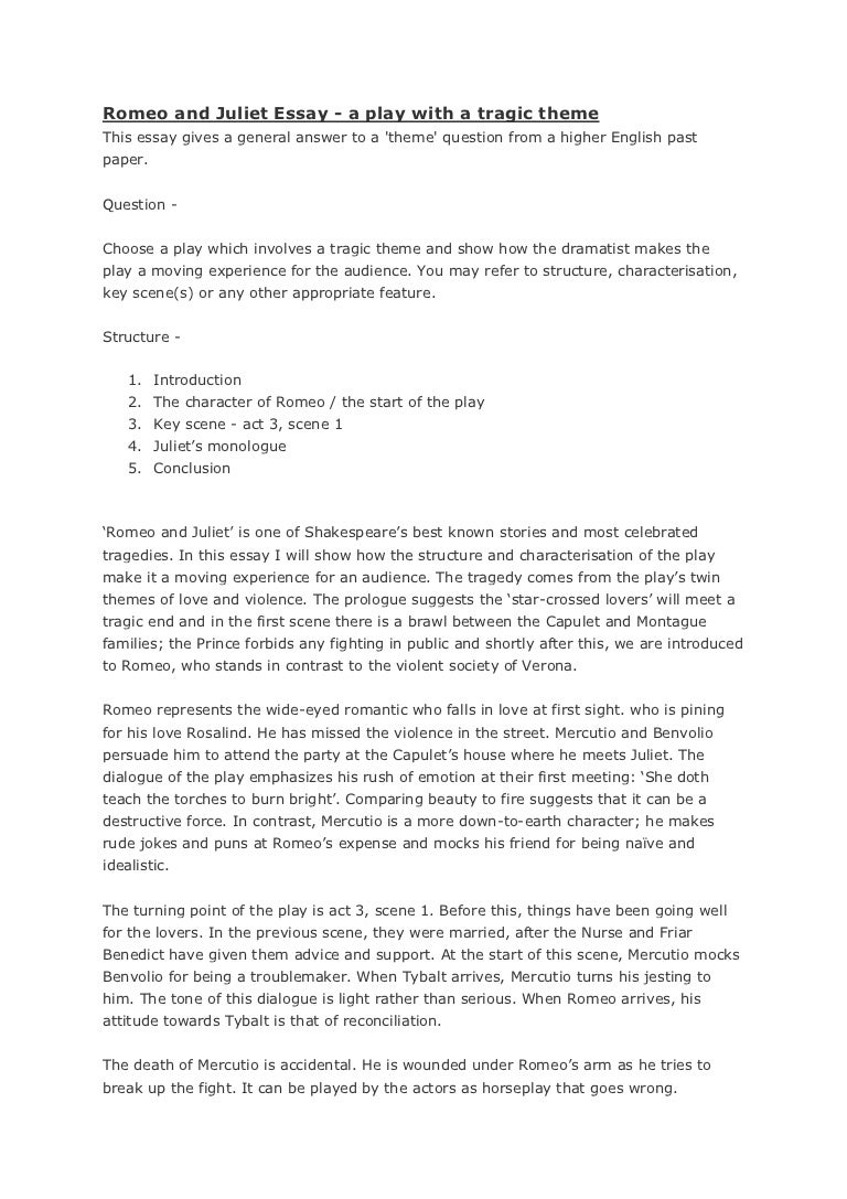Essay Of William Shakespeare The Character Of Romeo Essay Essay On The  Character Of Romeo Essay