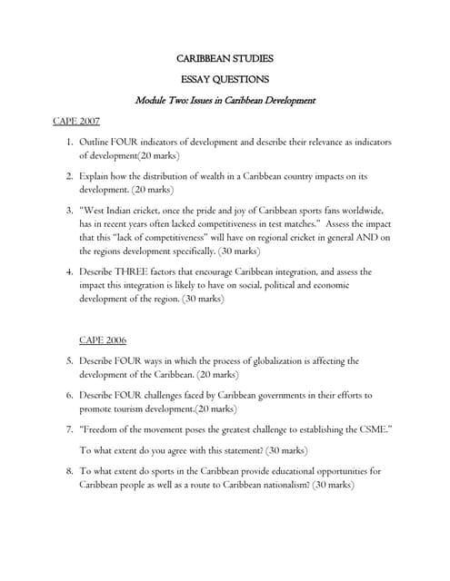 Caribbenstudiesnotes