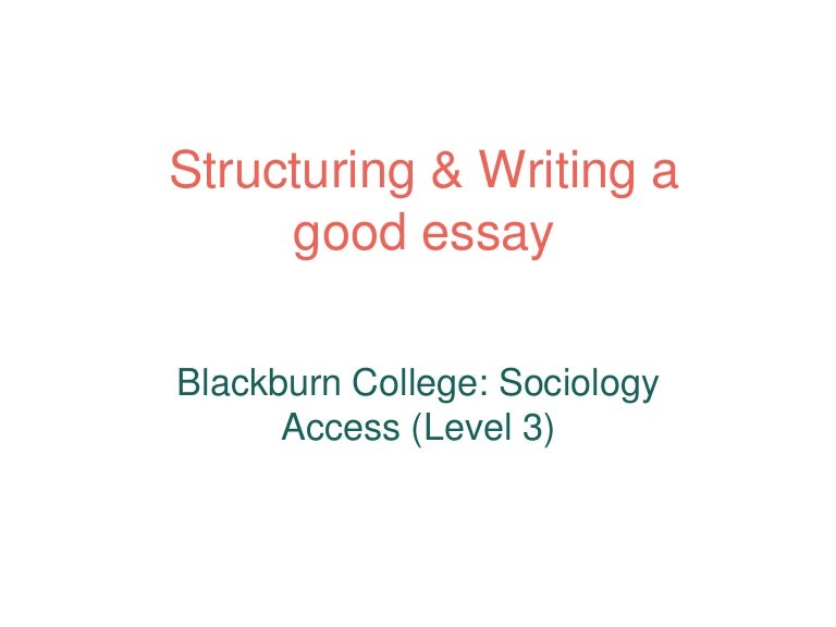 how to structure write an essay
