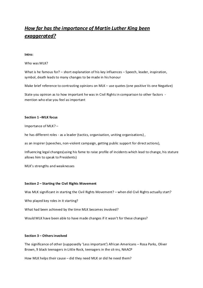 Lead Ins For Quotes Essay Structure Guidence Mlk