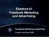 Essence of Facebook Marketing and Advertising: Introduction, Strategies, Stages of Facebook Marketing