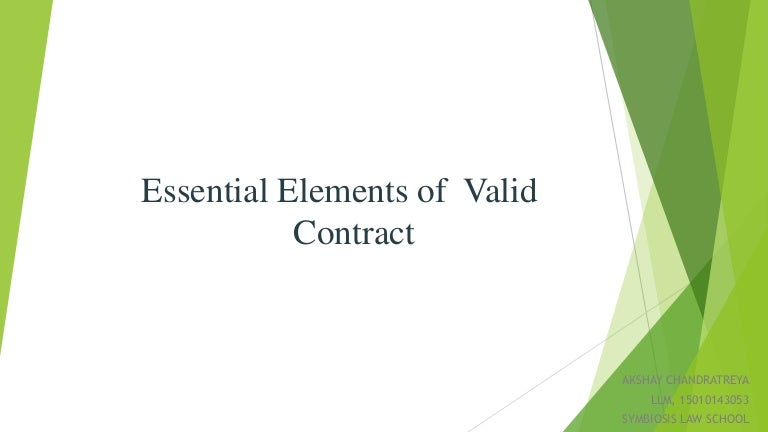 Essential Elements Of Valid