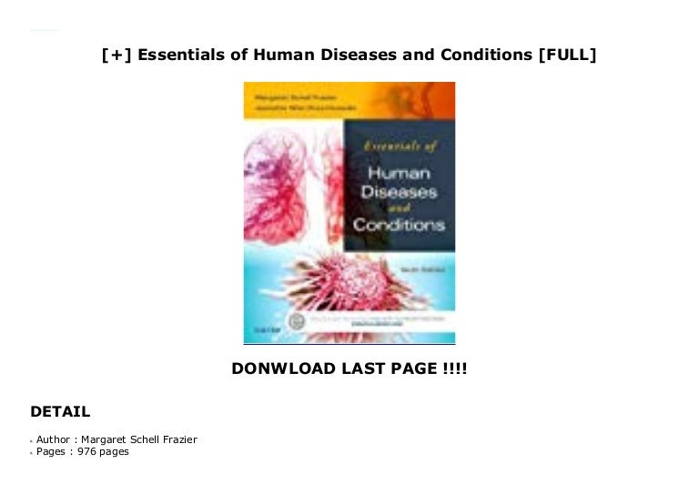 Essentials of Human Diseases and Conditions [FULL]