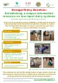 Senegal dairy genetics: Establishing a unique information resource on low-input dairy systems