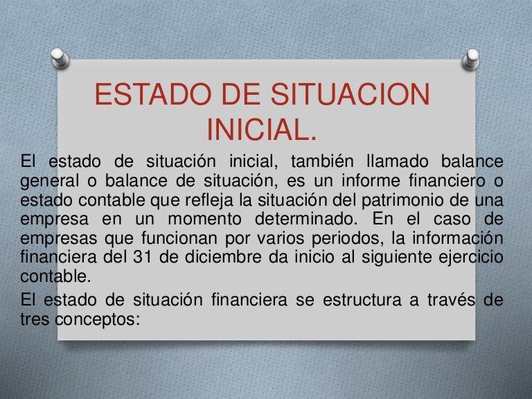Estado De Situacion Inicial