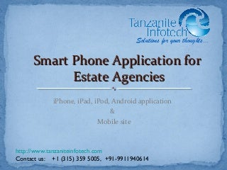 Estate Agent apps - iPhone and iPad application for Real Estate agents