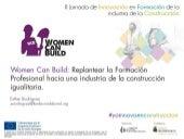 Replantear la Formación Profesional hacia una industria de la construcción igualitaria. Proyecto WOMEN CAN BUILD