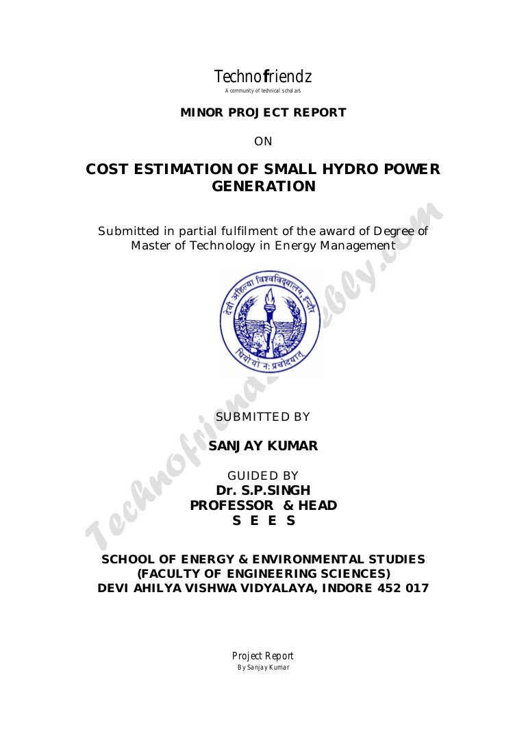 Cost Estimation Of Small Hydro Power Generation Plant Block Diagram Estimatedcostofhydroplant 141017191151 Conversion Gate01 Thumbnail 4cb1413573321