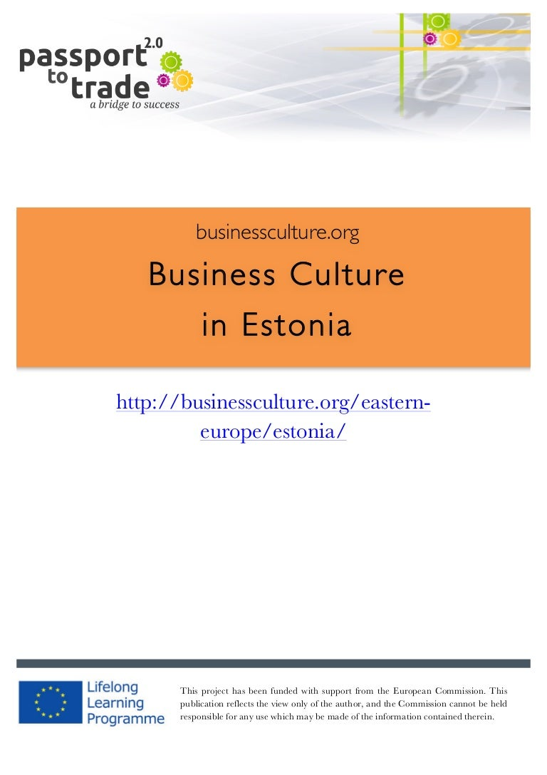 estonian business culture guide learn about estonia rh slideshare net Language Percents in Brazil French Language