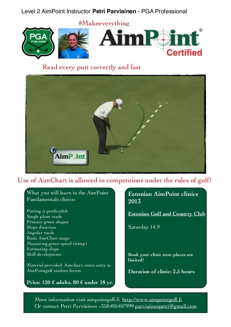 33+ Aimpoint golf certification information