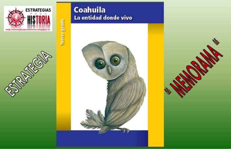 Memorama La Entidad Donde Vivo Coahuila Tercer Grado