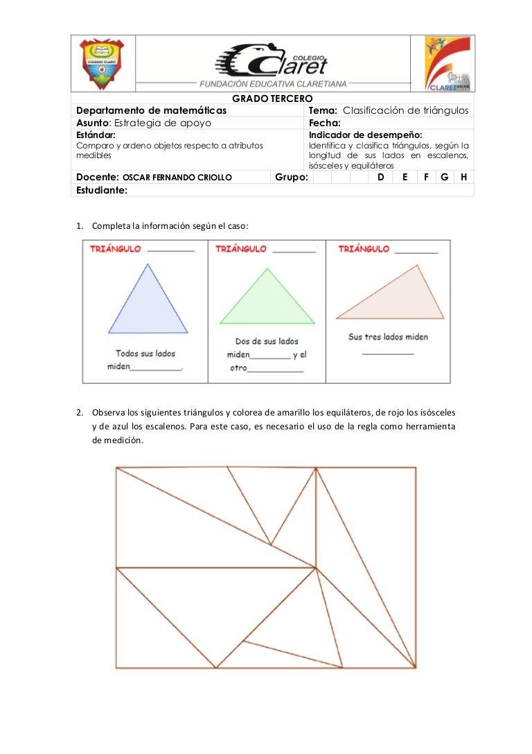 Estrategia de apoyo triangulos