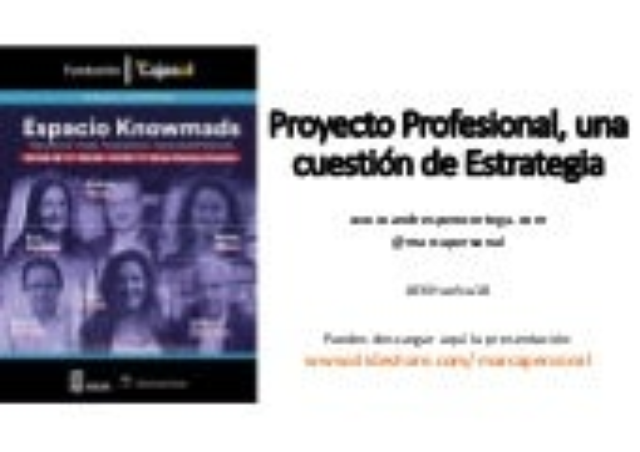 Estrategia Personal. Espacio Knowmads. Huelva 9 Mayo 2018