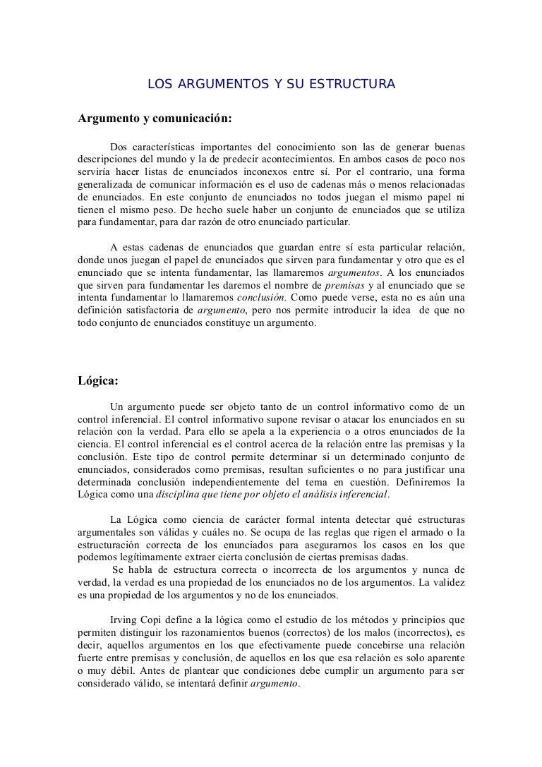 Estructura Argumental