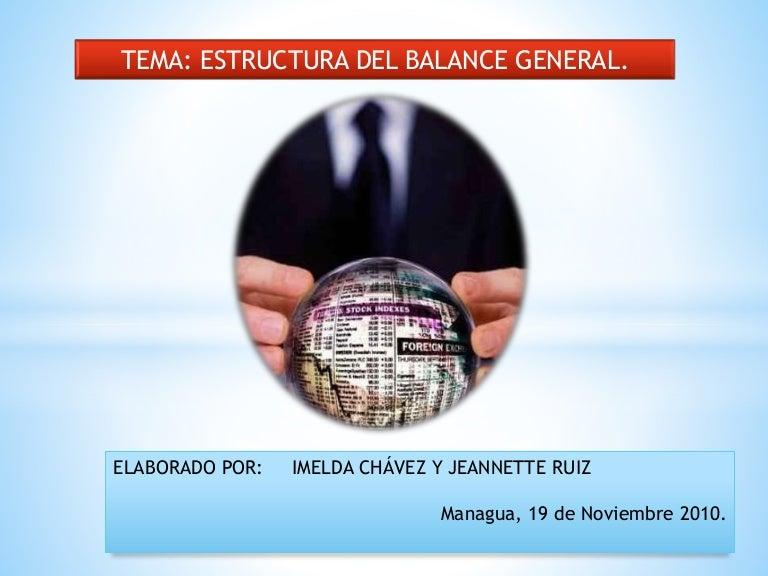 Estructura De Balance General