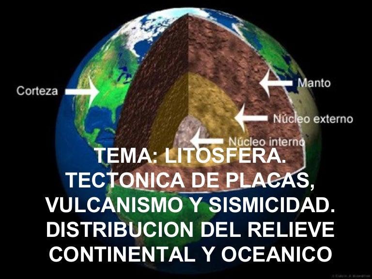 Estructura Interna Tierra Placas Tectonicas