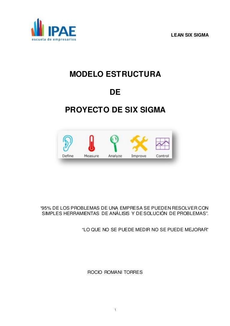 Estructura Modelo de Proyecto Six Sigma