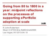 From 80-1800, reflections on the process of ePortfolio adoption. Et4online